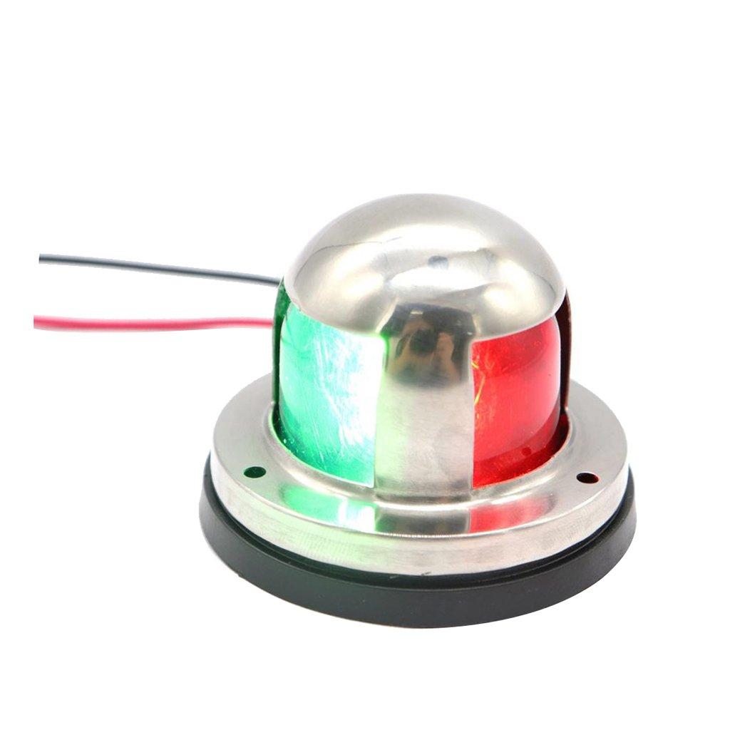 Homyl Stainless Steel 12V Boat Marine LED Bow Navigation Light Red & Green Color