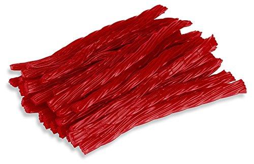 Happy Bites Red Raspberry Licorice Twists - Certified Kosher - 1 Pound Bag (16 oz)