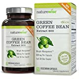 NatureWise Green Coffee Bean Extract 800 with GCA Natural Weight Loss Supplement, 60 Caps