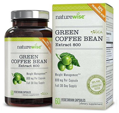 NatureWise Green Coffee Bean Extract 800 with GCA Natural Weight Loss Supplement 60 Caps