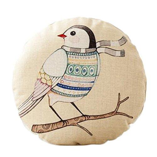 Cute Animal Pattern Sofa Round Cushion Circular Chair Cushion Pillow Seat Pad, D by Kylin Express