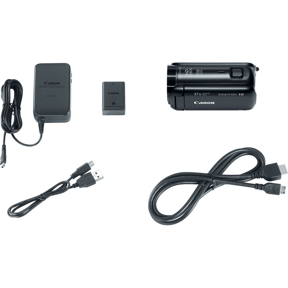 Canon VIXIA HF R800 Full HD Camcorder Bundle, includes: 64GB SDXC Memory Card, Card Reader, Spare Battery and more... by Canon