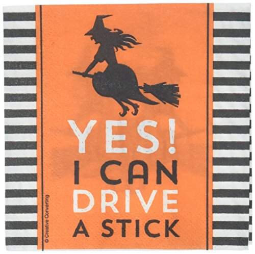 Creative Converting 324004 Party Creations Paper Napkin, Halloween Humor -