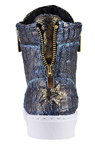 Women's Beaded 2Star Shoes 39 Sneaker Blue Gold wIEaxq