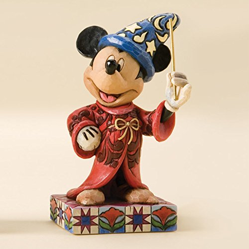 (Disney Traditions by Jim Shore Sorcerer Mickey Personality Pose Stone Resin Figurine,)