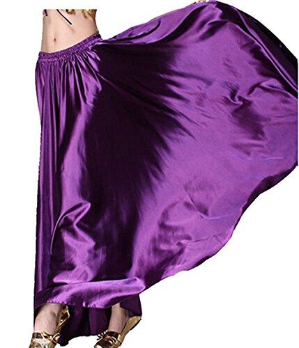 Astage Belly Dance Satin Full Circular Long Skirt, Hot Dance Costume