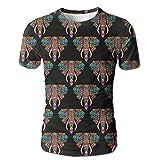 Elephant India Africa Animal New Style Men's Casual Short Sleeve T-Shirts XL