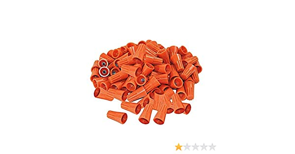 Liyafy P3 Wire Connectors AWG Wire Nut Bulk with Spring Inserted Easy Screw On Electrical Caps Orange 250Pcs