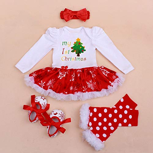 Fygrend - Infant Baby Girl Summer Long Long Long Suit Novelty Costume Baby Christmas Clothing Sets Santa Rompers Birthday Party Cosplay Gift 4color [ 12M 3 ] 0a1a4a
