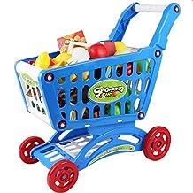 JUOKK Mini Children Supermarket Plastic Shopping Cart for Kids