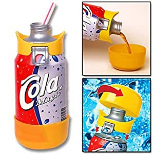 QuikTop Can Cap - Quik Top Beverage Soda Pop Beer Fizz Keeper Lid Cover - Blue