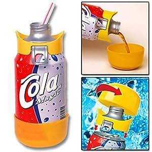 QuikTop Can Cap - Quik Top Beverage Soda Pop Beer Fizz Keeper Lid Cover - Blue