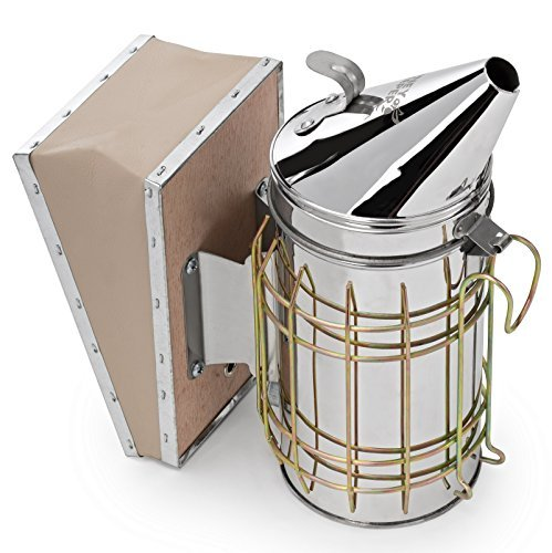 Honey Keeper Bee Hive Smoker Stainless Steel with Heat Shield...