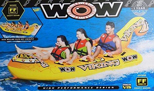 [해외] WORLD OF WATERSPORT WOW 3-PERSON INFLATABLE TOWABLE VIKING BOAT TUBE-