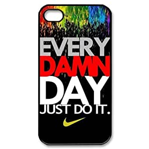 Super PC-Beauty Print Hard Shell Cover Case for iPhone 4S Every Damn Day Just Do It