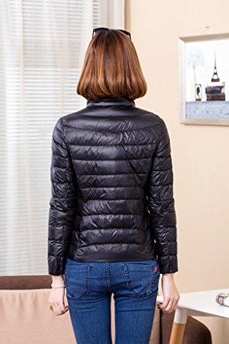 ACMEDE Pour Hiver Ultra Manteau Noir Chaude Zipp Longues Duvet Lgre Manches Femme Doudoune Veste Pliable r7Rq6Pnr5