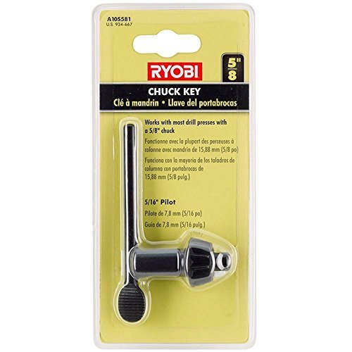 Ryobi 5/8 in. Black Metal Chuck Key with 5/16 in. Pilot