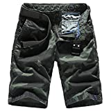 Yollmart Men's Casual Twill Cargo Shorts camo Worker Shorts Army US38/Tag40