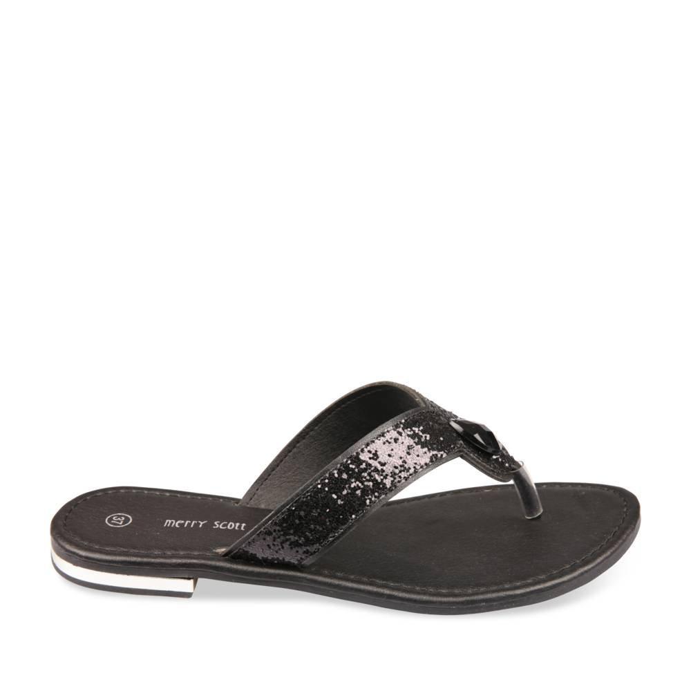 7087eb95a69 MERRY SCOTT Women s Thong Sandals black Size  6.5  Amazon.co.uk  Shoes    Bags