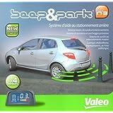Valeo 632002 Sistema de Ayuda al Estacionamiento con 4 Sensores de Aparcamiento Traseros y Pantalla