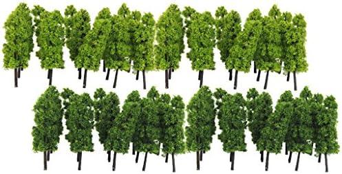 dailymall プラスチック製 樹木 木 モデルツリー 風景 箱庭 鉄道模型 建物模型 ジオラマ DIY 装飾 1/150 40本