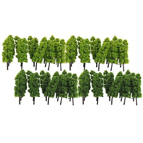 Jili Online Pack Of 40 Model Trees N Scale Diy Layout Train Landcape Scenery Accessories 7 7Cm 3 1 150 N Scale