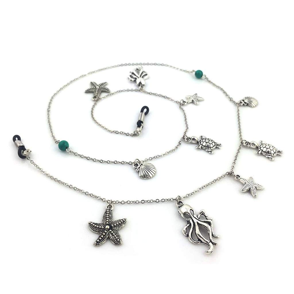 570524865e Joli Cordon Lunettes Femme Bijoux Attache Lunette Chaine Lunettes:  Amazon.fr: Vêtements et accessoires