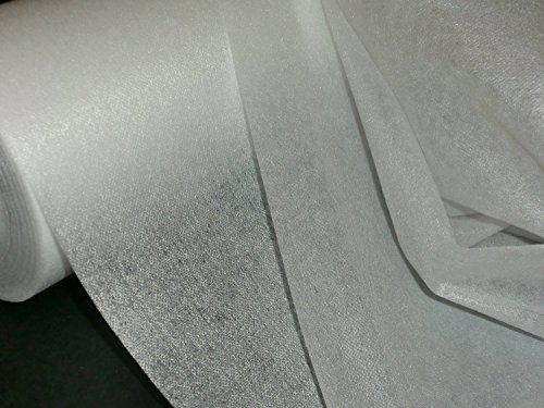 3 lfm. Bügelvlieseline in weiß, 45 g/m², 90 cm breit, doppelseitig aufbügelbar , für leichte bis mittelschwere Stoffe, doppelseitig haftend
