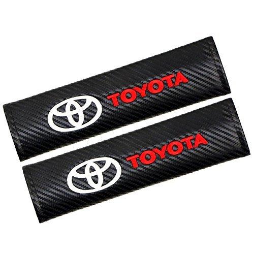 Altergo Seat Belt Covers for Toyota, Carbon Fiber Car Seatbelt Shoulder Strap Pad (Pack of 2)