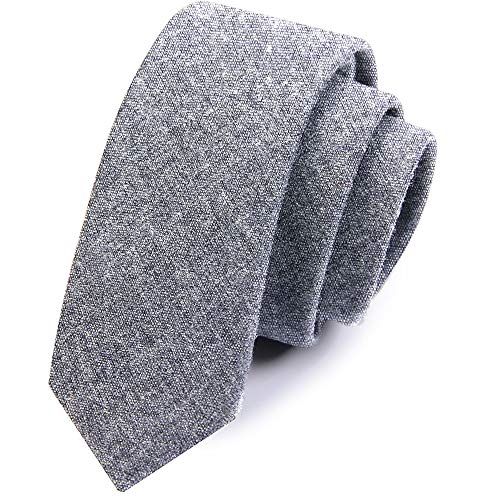 LLLCF Men's Tie,Each Color And Fabric Is Carefully Selected By The Designer Through Data Collection.Can be Used With A Variety Of Shirt Suit Jacket Windbreaker (gray)