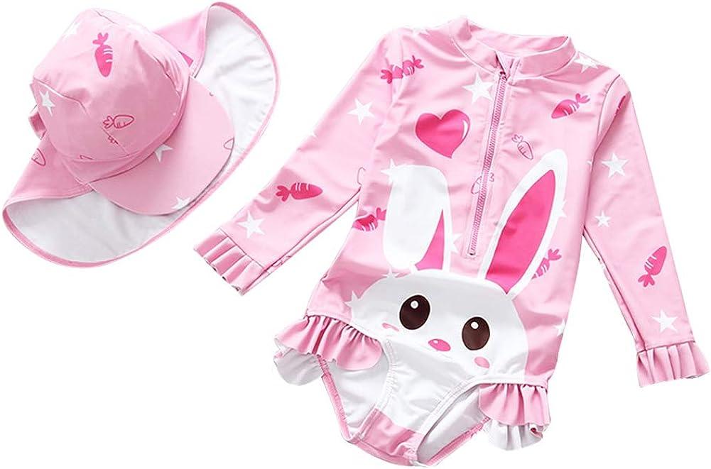 Happy Cherry Baby Boys Girls One Piece Swimsuit UPF 50 Rash Guard Swimwear Set