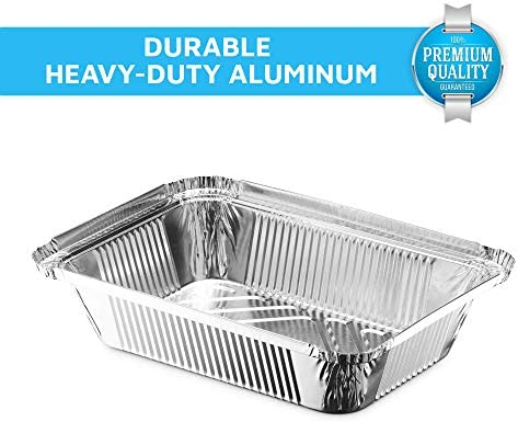 """MontoPack Disposable Takeout Pans with Clear Lids 