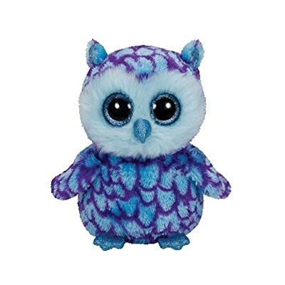 Ty Beanie Boos Oscar The Blue/Purple Owl Plush: Toys & Games