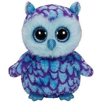 Ty Beanie Boos Oscar The Blue/Purple Owl Plush