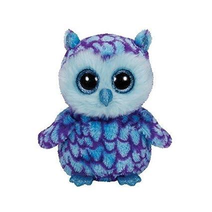 6f5fa320e64 Amazon.com  Ty Beanie Boos Oscar The Blue Purple Owl Plush  Toys   Games