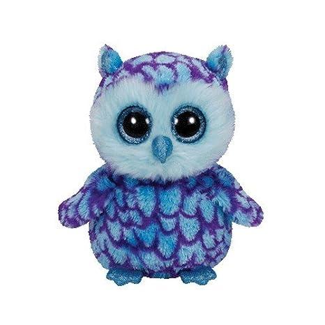Ty - Oscar, Peluche búho, 15 cm, Color Azul (36148TY): Amazon.es: Juguetes y juegos