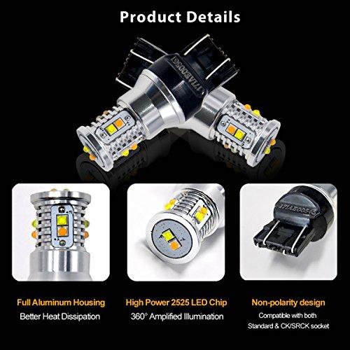 LASFIT-Dual-Color-7443-7444-992-T20-Switchback-WhiteAmber-LED-Bulb-Polarity-Free-Extremely-Bright-LED-Light-for-Daytime-Running-Light-Parking-Light-Turn-Signal-Blinker-Lights-Pack-of-2