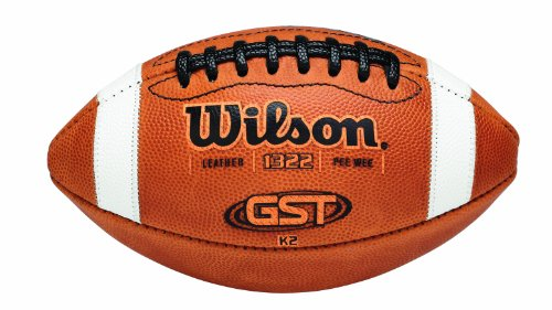Wilson GST K2 Pee Wee Football - K2 Leather Football