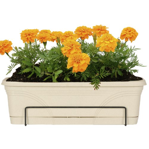 Cheap CobraCo 18-Inch to 36-Inch Black Adjustable Open-End Flower Box Holder FOE26-B for sale