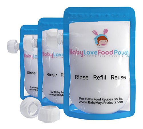 Reusable Pouches Refillable Homemade Food Babies Dishwasher