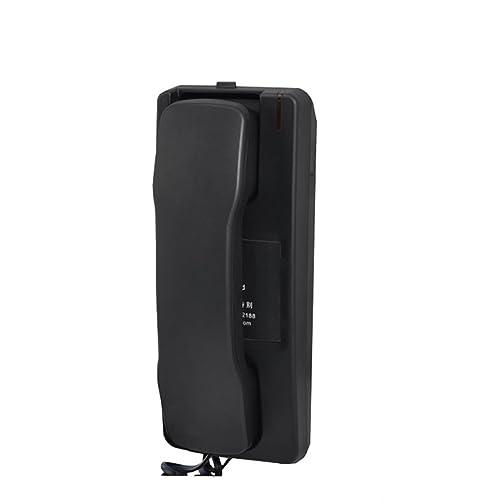 XHY Téléphone fixe accrochant le mur, machine de chevet de salle de bains d'hôtel (H22.5cm * W9cm) YHX ( Color : Noir )