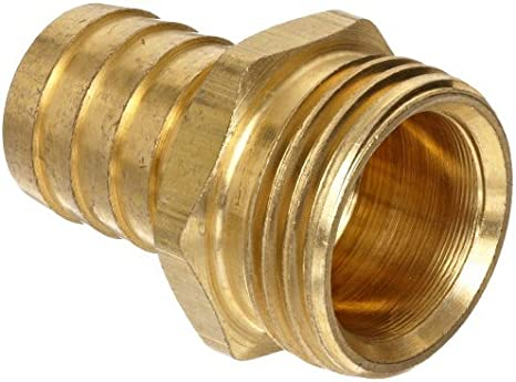 5//8 Barb x 3//4 Male Pipe Connector Anderson Metals Brass Hose Fitting