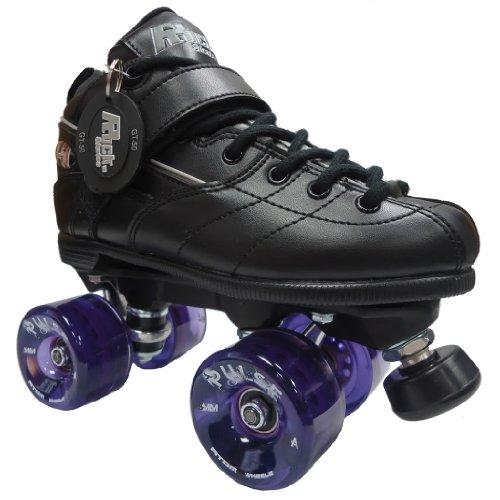 Rock GT50 Pulse Purple Roller Derby Speed Skates - 78A Outdoor Wheels
