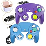 Bowink NGC Wired Controller for Wii Gamecube (Blue1 and Purple1)