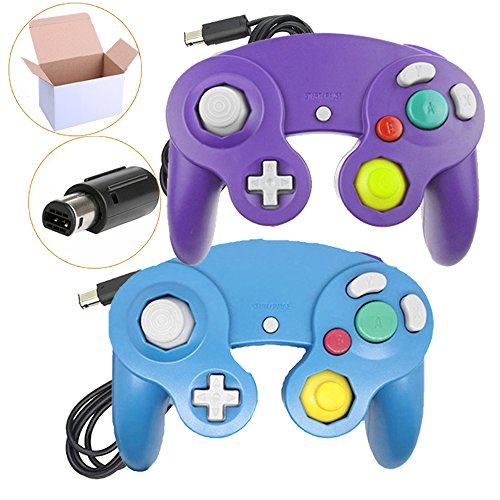Wii Blue Sleeves (Bowink NGC Wired Controller for Wii Gamecube (Blue and Purple))