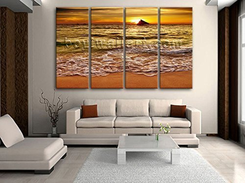 Extra Large Vertical Art On Canvas Beach Sunset Picture Print Living Room Decor Oversized Beach & Amazon.com: Extra Large Vertical Art On Canvas Beach Sunset Picture ...