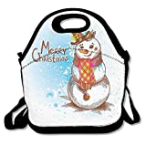 Sjqwnswjw Boy One Size Sketch Style Artwork Traditional Figure With Merry Christmas Wish Hat And Scarf Cute Gym Drawstring Bags Travel Backpack Tote School Rucksack