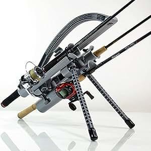 Rod-Runner Express Fishing Rod Rack - Gray | Portable Fishing Rod Holder Caddy