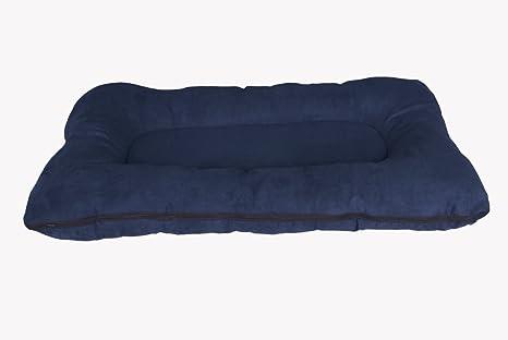Cama para perros/colchoneta para perros XXL, 120x80 cm, azul oscuro, colchón