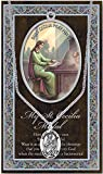 (60 6/18) SAINT CECILIA Genuine Pewter Medal Stainless Chain & Prayer Card PATRONA Series Copyrighted Paul Herbert Blessing